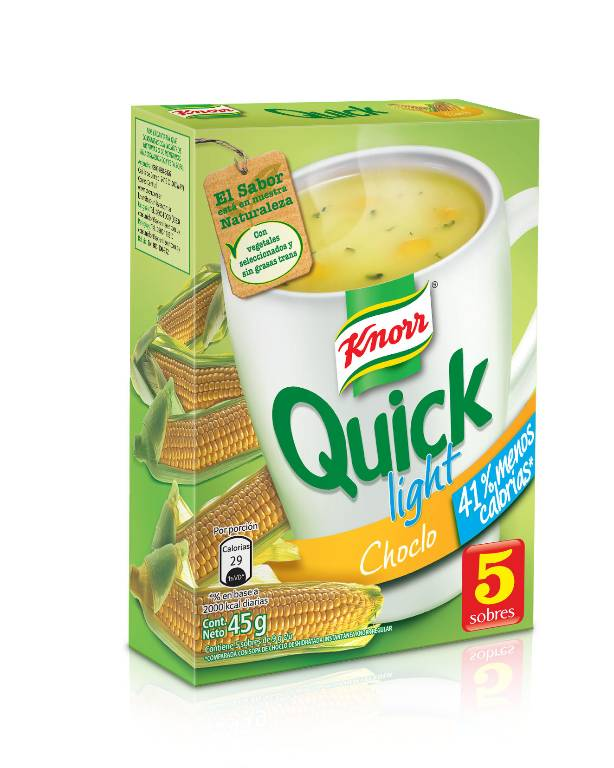 Sopa lista Knorr Quick choclo light 5 sobres