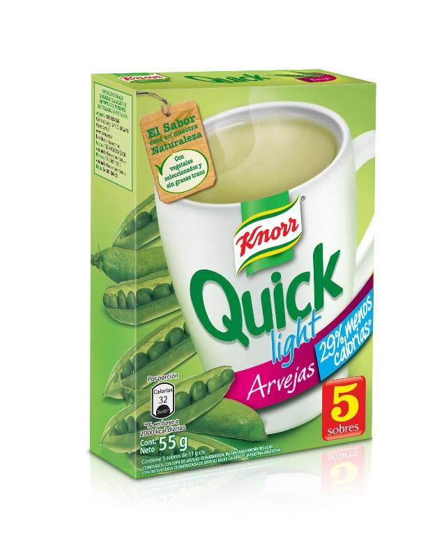 Sopa lista Knorr Quick arveja light 5 sobres
