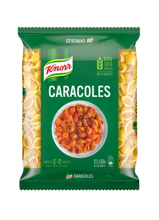 Fideo Knorr caracoles 500 grs